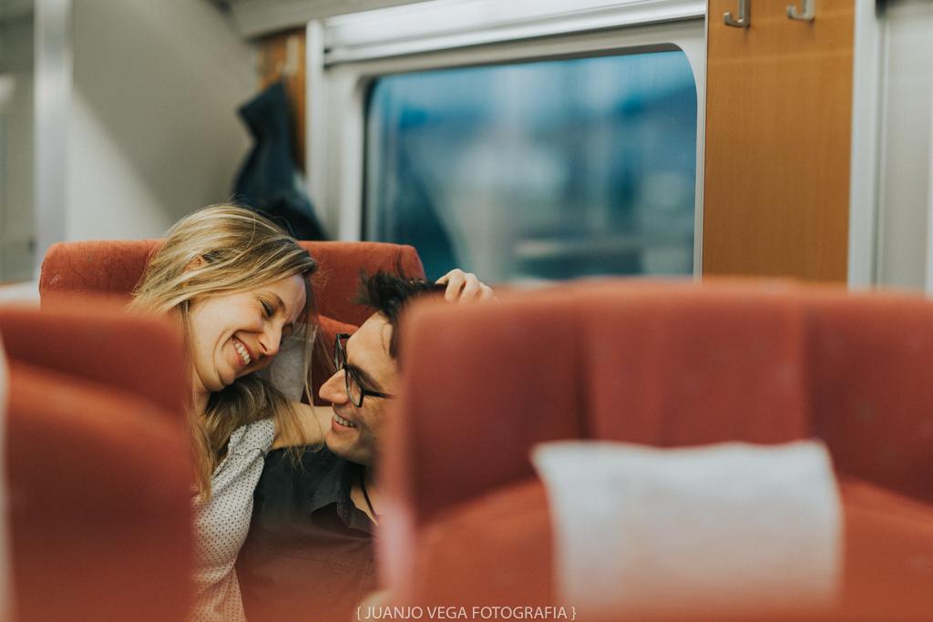 Sessió preboda al tren