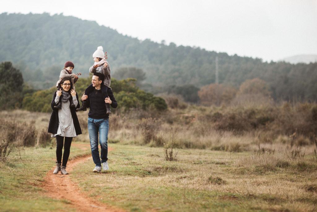 JUANJO VEGA, Family photoshoot outdoors near Barcelona, playing and enjoying nature
