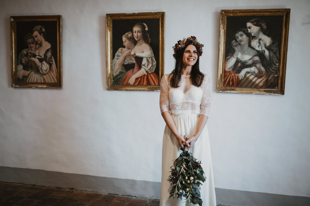 Bouquet for a mediterranean wedding in Barcelona in the heart of nature at Casa Cerdà | Juanjo Vega, Mediterranean outdoor wedding photographer in Barcelona.